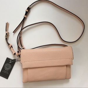 Vince Camuto pink leather bag cross body small bag